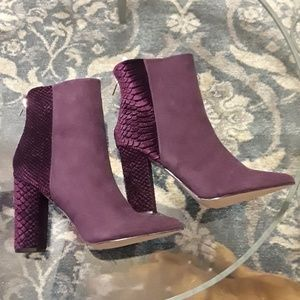 Brand New Faux Suede/Velvet Booties